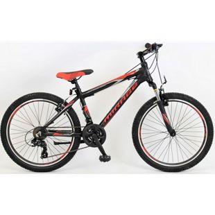24 Zoll Jungen Mountainbike 21 Gang Hoopfietsen... schwarz-rot