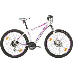 27,5 Zoll Damen Mountainbike 24 Gang Sprint... weiß-violett, 48 cm