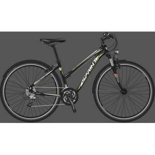 28 Zoll Damen Trekking Fahrrad 24 Gang Sprint Sintero Urban... schwarz, 43 cm