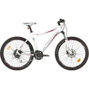 26 Zoll Damen Mountainbike 24 Gang Sprint Apolon... weiß-blau, 44 cm