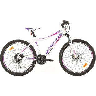 26 Zoll Damen Mountainbike 24 Gang Sprint... weiß-violett, 44 cm