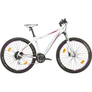 27,5 Zoll Damen Mountainbike 24 Gang Sprint Apolon... weiß-blau, 48 cm