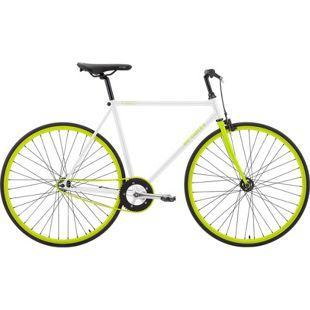 28 Zoll Herren Fixie Fahrrad Sprint Fixed... weiß-grün