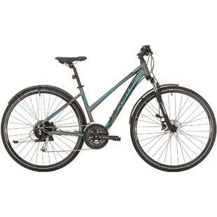 28 Zoll Damen Trekking Fahrrad 27 Gang Sprint Sintero Urban... grau-blau, 43 cm