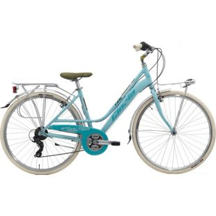 28 Zoll Damen City Fahrrad Cinzia Nuvola 21 Gang... blau