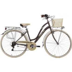 28 Zoll Damen City Fahrrad Cinzia Viaggio 6 Gang... braun