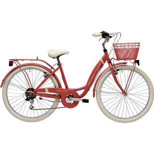 26 Zoll Damen City Fahrrad Adriatica Panda 6... rot