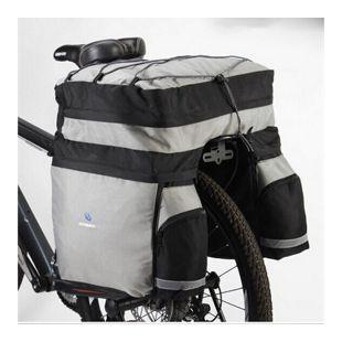Fahrrad Tasche Gepäckträgertasche Trekking 60 L Stauvolumen... silber-blau