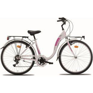26 Zoll Damen City Fahrrad Montana Liberty 7... weiß
