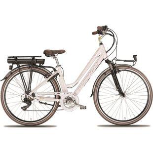 28 Zoll Elektro Damen Fahrrad Montana E-Bluecity... weiß, 48 cm