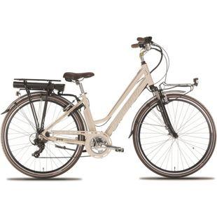 28 Zoll Elektro Damen Fahrrad Montana E-Bluecity... creme, 44cm
