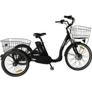 24 Zoll Elektro Dreirad Cyclo2 Comfort24... schwarz, 36V Akku mit 14Ah (504 Wh)