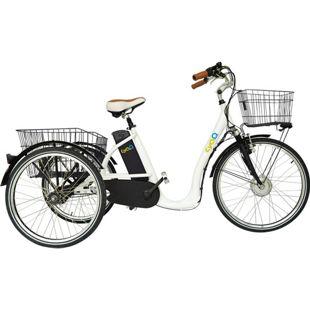 26 Zoll Elektro Dreirad Cyclo2 Comfort26 3-Gang... weiß, 36V Akku mit 10Ah (360 Wh)
