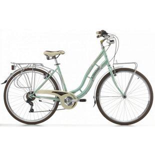 28 Zoll Damen City Fahrrad Cinzia Charleston 6 Gang... grün-aquamarin