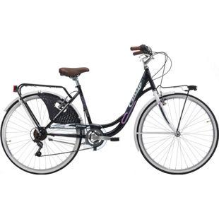 26 Zoll Damen Holland Fahrrad Cinzia Liberty 6 Gang... schwarz-weiß