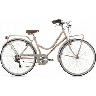 28 Zoll Damen City Fahrrad Cinzia Novecento 6 Gang... grau-pink