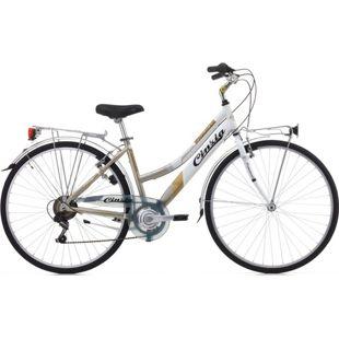 28 Zoll Damen Trekking Fahrrad Cinzia Promenade 6 Gang... gold-grau-weiß