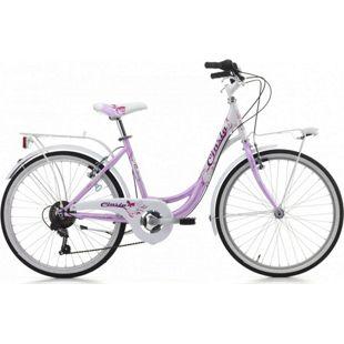 24 Zoll Mädchen Fahrrad Cinzia Liberty 6 Gang... pink-weiß