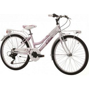 24 Zoll Mädchen Fahrrad Cinzia Daisy 6 Gang... pink-weiß