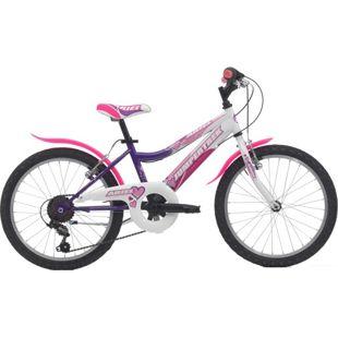 20 Zoll Mädchen Fahrrad Cinzia Ariel 6 Gang... violett-weiß
