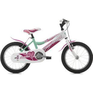 16 Zoll Mädchen Fahrrad Cinzia Ariel... grün-weiß