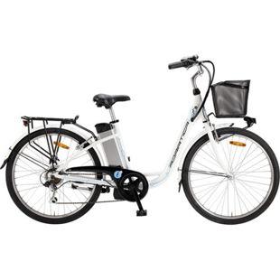 26 Zoll Elektro Damen Fahrrad Adriatica E2... weiß