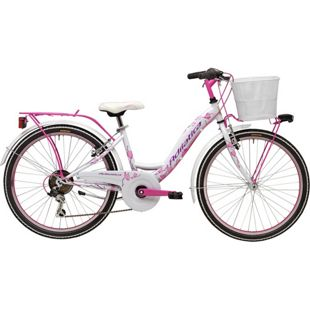 24 Zoll Mädchen Fahrrad Adriatica CTB 6... weiß-pink