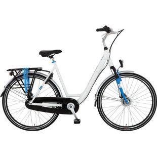 28 Zoll Damen City Fahrrad 7 Gang Hoopfietsen Omega... weiß, 56 cm