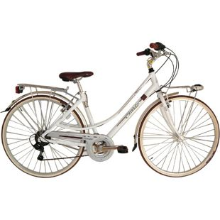 28 Zoll Damen City Fahrrad Cinzia Perla 21 Gang... weiß