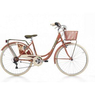 26 Zoll Damen City Fahrrad Cinzia Belle Epoque 6 Gang... rot