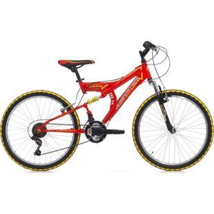 24 Zoll Fully Mountainbike Cinzia Arrow 18 Gang... rot
