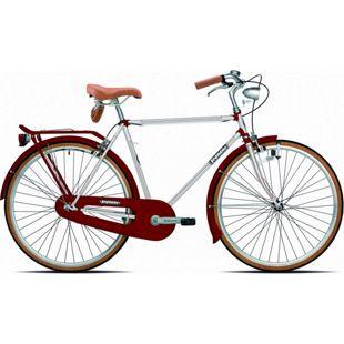 28 Zoll Herren Holland Fahrrad Legnano Vintage... 54 cm, weiß-bordeaux