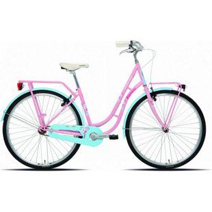 28 Zoll Damen City Fahrrad Legnano Fenicottero... pink-hellblau