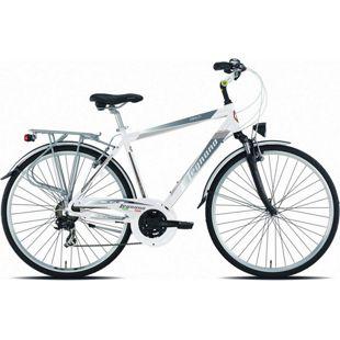 28 Zoll Herren Trekking Fahrrad Legnano Amalfi 21 Gang... weiß-silber, 52 cm