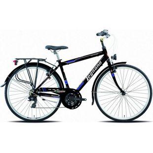 28 Zoll Herren City Fahrrad Legnano Forte dei Marmi 21 Gang... schwarz-blau, 48 cm