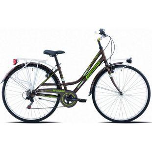 28 Zoll Damen City Fahrrad Legnano Versilia 6 Gang... 48 cm, braun-grün