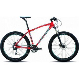 27,5+ Mountainbike Legnano Duran 27 Gang... 40 cm, rot-hellblau