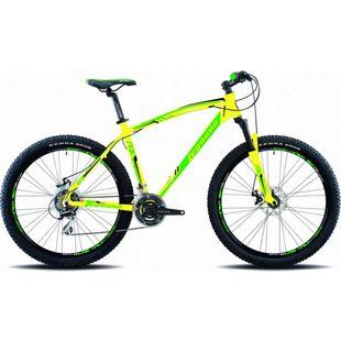 27,5 Zoll Legnano Lavaredo Mountainbike 21 Gang... 41 cm, matt-gelb-grün