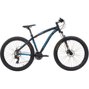 27,5+ Mountainbike Cinzia Sleek Plus 300 21 Gang 3 Zoll Reifen... schwarz-blau, 39 cm