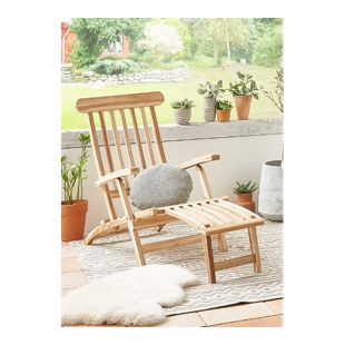 SAM® Gartenliege klappbar Teakholz Deckchair 145 cm PUCCON