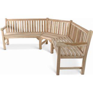 SAM® Gartenbank Eckbank 210 x 210 cm Teak-Holz FELIA