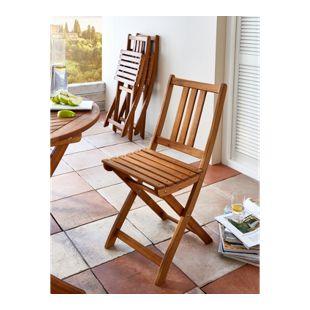 SAM® Balkonstuhl Gartenstuhl aus Akazienholz Klappstuhl FARSO