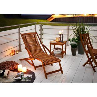 SAM® Sonnenliege Gartenliege aus Akazienholz 150 cm FUKI