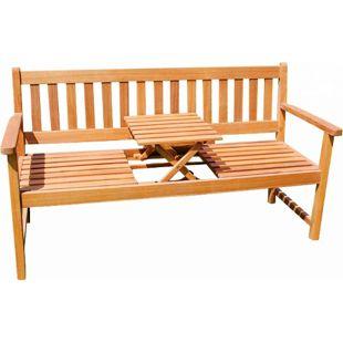 SAM® Gartenbank Akazie 157 cm 3-Sitzer Sitzbank LAURA