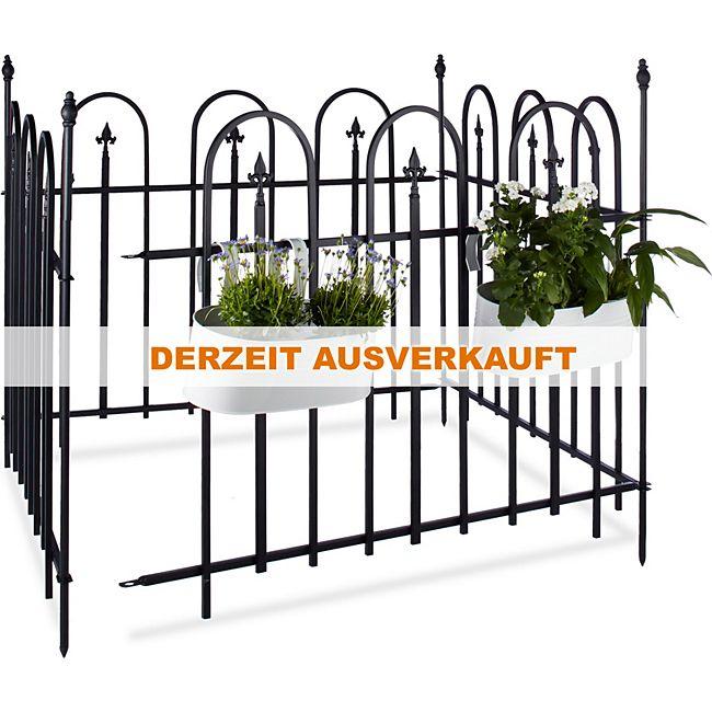 relaxdays Gartenzaun Metall 4er Set GOTH online kaufen | GartenXXL.de