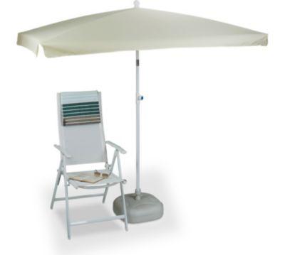 relaxdays Sonnenschirm rechteckig 200 x 120 cm