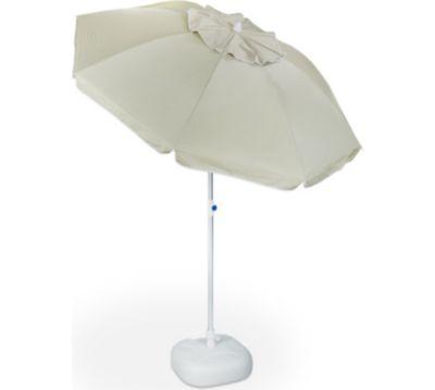 relaxdays 2 tlg. Sonnenschirm Set Sonnenschirmständer Sonnenschirm 180 cm Schirmständer