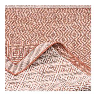 In- und Outdoor Teppich Beidseitig Flachgewebe Hampton Terrakotta Meliert... 80x150 cm