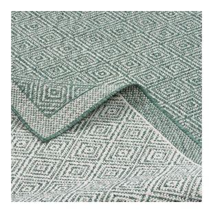 In- und Outdoor Teppich Beidseitig Flachgewebe Hampton Grün Meliert... 80x150 cm