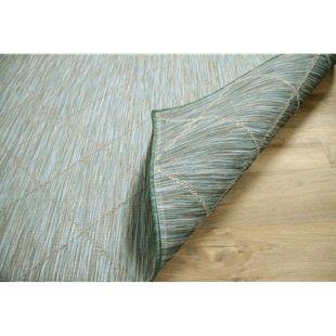 In- und Outdoor Teppich Beidseitig Flachgewebe Hampton Karo Mintgrün... 80x150 cm